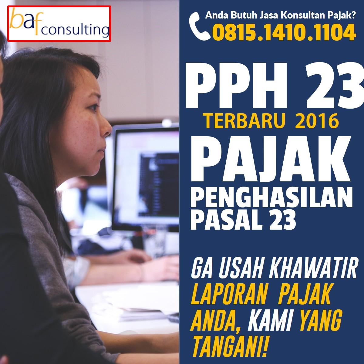 Tarif Pajak Penghasilan (PPh) Pasal 23 Terbaru 2015