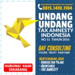 Undang Undang Tax Amnesty Indonesia no 11 tahun 2016