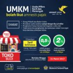 Dirjen Pajak Berharap Pelaku UMKM Ikut Tax Amnesty Periode II