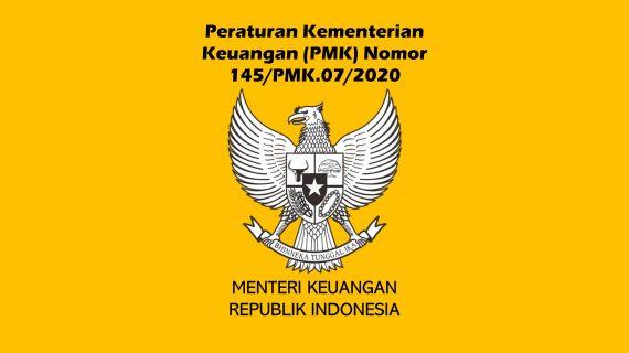 """Peraturan Menteri Keuangan Nomor 145/PMK.07/2020 Tahun 2020<span class=""""rating-result after_title mr-filter rating-result-16618""""><span class=""""mr-star-rating"""">    <i class=""""fas fa-star mr-star-full""""></i>        <i class=""""fas fa-star mr-star-full""""></i>        <i class=""""fas fa-star mr-star-full""""></i>        <i class=""""fas fa-star mr-star-full""""></i>        <i class=""""fas fa-star mr-star-full""""></i>    </span><span class=""""star-result"""">5/5</span><span class=""""count"""">(1)</span></span>"""