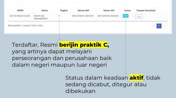 Status Konsultan Pajak